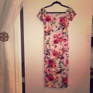 Women's short sleeve maxi dress